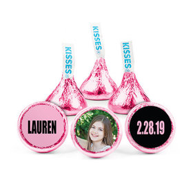 Personalized Bat Mitzvah Boldly Pink Hershey's Kisses (50 pack)