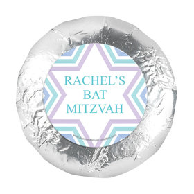"Personalized Bonnie Marcus Bat Mitzvah Traditional Stripes 1.25"" Sticker (48 Stickers)"