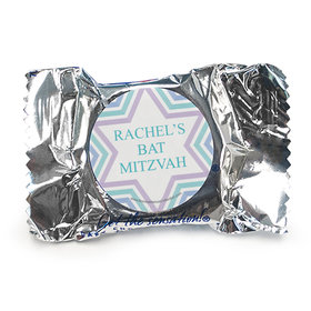 Personalized Bonnie Marcus Bat Mitzvah Traditional Stripes York Peppermint Patties