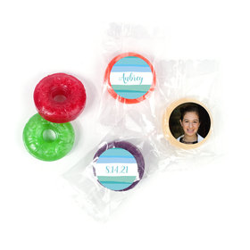 Personalized Bonnie Marcus Bat Mitzvah Watercolor Blessing LifeSavers 5 Flavor Hard Candy