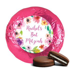 Personalized Bonnie Marcus Bat Mitzvah Floral Commencement Chocolate Covered Oreos Cookies