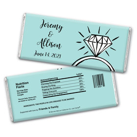 Bonnie Marcus Collection Personalized Chocolate Bar Wrappers Personalized & Wrapper Bada Bling Engagement Favors