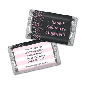 Bonnie Marcus Collection Mini Candy Bar Wrapper Sweetheart Swirl Engagement