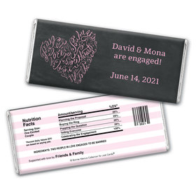 Bonnie Marcus Collection Personalized Chocolate Bar Wrappers Chocolate and Wrapper Sweetheart Swirl Engagement
