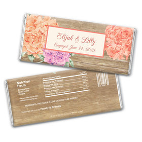 Bonnie Marcus Collection Personalized Chocolate Bar Wrappers Chocolate and Wrapper Blooming Joy Engagement Announcement