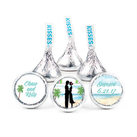 """Bonnie Marcus Collection Engagement Tropical I Do 3/4"""" Stickers Personalized (108 Stickers)"""