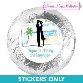 "Bonnie Marcus Collection Engagement Tropical I Do 1.25"" Stickers (48 Stickers)"