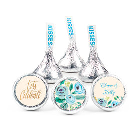 """Bonnie Marcus Collection Here's Something Blue Engagement 3/4"""" Stickers Personalized (108 Stickers)"""