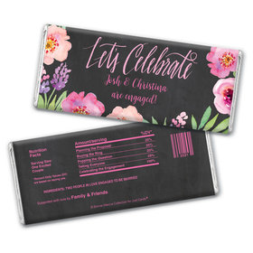 Bonnie Marcus Collection Personalized Chocolate Bar Wrappers Chocolate & Wrapper Floral Embrace Engagement Favors