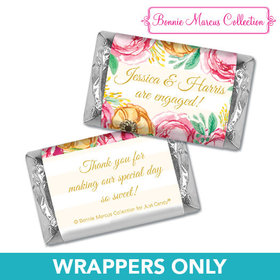 Personalized Bonnie Marcus Engagement Stripes Mini Wrappers Only