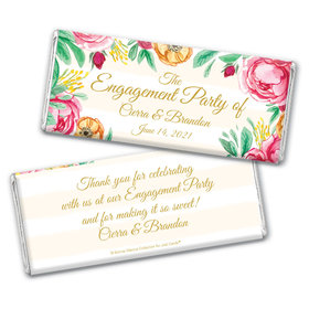 Personalized Bonnie Marcus Engagement Stripes Chocolate Bar Wrappers Only