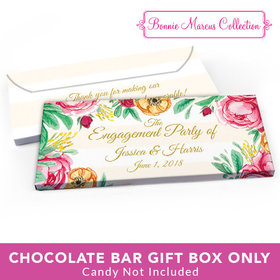Deluxe Personalized Engagement Stripes Candy Bar Favor Box
