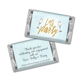 Personalized Bonnie Marcus Engagement Champagne Party Mini Wrappers Only