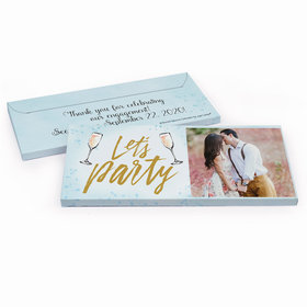 Deluxe Personalized Engagement Champagne Party Candy Bar Favor Box