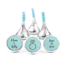 Personalized Bonnie Marcus Engagement Bada Bling Hershey's Kisses (50 pack)
