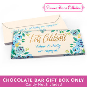 Deluxe Personalized Engagement Something Blue Candy Bar Favor Box