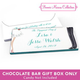Deluxe Personalized Engagement Chic Couple Candy Bar Favor Box