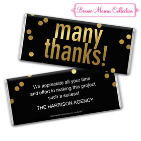 Personalized Bonnie Marcus Business Many Thanks Chocolate Bar & Wrapper