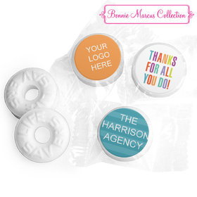Personalized Bonnie Marcus Business Thank you Stripes Life Savers Mints