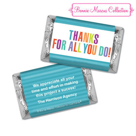 Personalized Bonnie Marcus Business Thank you Stripes Hershey's Miniatures