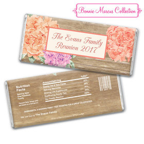 Bonnie Marcus Collection Family Reunions Personalized Chocolate Bar Chocolate and Wrapper Blooming Joy Family Reunion Favor