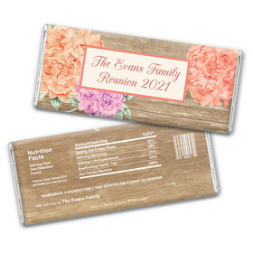 Bonnie Marcus Collection Family Reunions Personalized Chocolate Bar Wrappers Chocolate and Wrapper Blooming Joy Family Reunion Favor