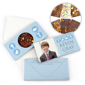 Personalized Bonnie Marcus Boy Communion Religious Symbols Gourmet Infused Belgian Chocolate Bars (3.5oz)