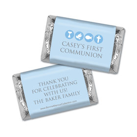 Personalized Bonnie Marcus Boy First Communion Religious Symbols Mini Wrappers Only