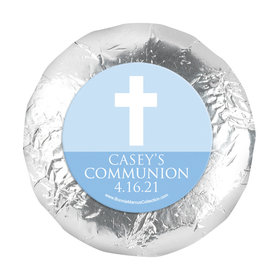 "Personalized Boy First Communion Religious Symbols 1.25"" Stickers (48 Stickers)"