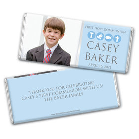 Personalized Bonnie Marcus Boy First Communion Religious Symbols Chocolate Bars