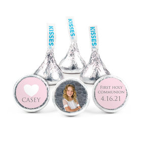 Personalized Bonnie Marcus Girl First Communion Religious Symbols Hershey's Kisses (50 pack)