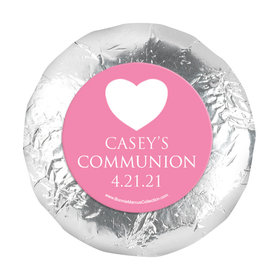 "Personalized Girl First Communion Religious Symbols 1.25"" Stickers (48 Stickers)"