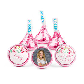 Personalized Bonnie Marcus Girl First Communion Floral Elegance Hershey's Kisses (50 pack)