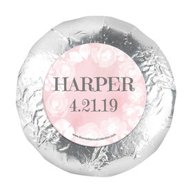 "Personalized Girl First Communion Darling Roses 1.25"" Stickers (48 Stickers)"
