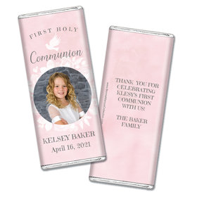 Personalized Bonnie Marcus Girl First Communion Darling Roses Chocolate Bars