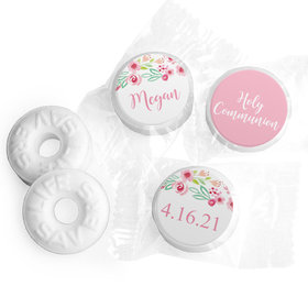 Personalized Girl First Communion Fancy Florets Life Savers Mints