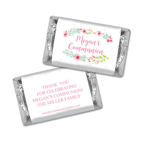 Personalized Bonnie Marcus Girl First Communion Fancy Florets Hershey's Miniatures