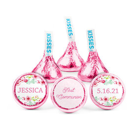 Personalized Bonnie Marcus Girl 1st Communion Floral Arrangement Hershey's Kisses (50 pack)