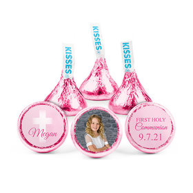 Personalized Bonnie Marcus Girl First Communion Faded Cross Hershey's Kisses (50 pack)