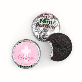 Personalized Girl First Communion Faded Cross Pearson's Mint Patties