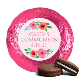 Personalized Girl First Communion Bold Florals Chocolate Covered Oreos
