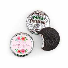 Personalized Girl First Communion Bold Florals Pearson's Mint Patties