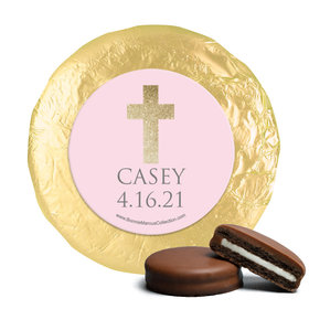 Personalized Girl First Communion Glitter Cross Chocolate Covered Oreos