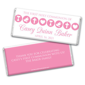 Personalized Bonnie Marcus Girl First Communion Religious Icons Chocolate Bars