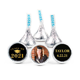 """Personalized Bonnie Marcus Gold Graduation 3/4"""" Stickers (108 Stickers)"""