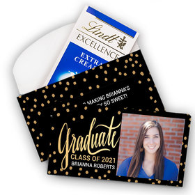 Deluxe Personalized Graduation Lindt Chocolate Bar in Gift Box (3.5oz)- Bonnie Marcus Graduate