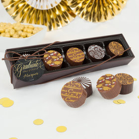 Personalized Bonnie Marcus Graduation Chalkboard Gourmet Chocolate Truffle Gift Box (5 Truffles)