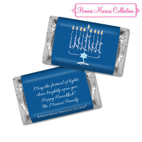 Personalized Bonnie Marcus Hanukkah Lights Hershey's Miniatures