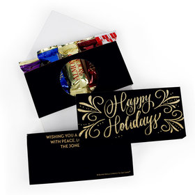 Deluxe Personalized Bonnie Marcus Christmas Happy Holidays Flourish Roca Chocolate in Gift Box