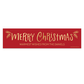 Personalized Bonnie Marcus Christmas Joyful Gold 5 Ft. Banner